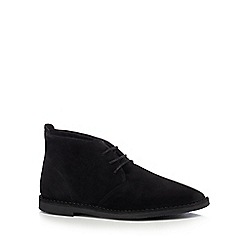 Hush Puppies - Black suede desert boots