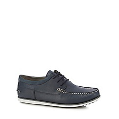 Hush Puppies - Navy leather 'Davo Portland' lace up shoes