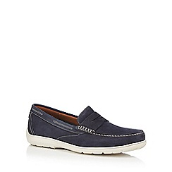 Rockport - Blue suede penny loafers