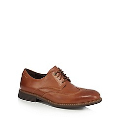 Rockport - Tan leather 'Classic Break' Derby shoes