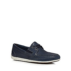 Rockport - Navy leather boat shoes