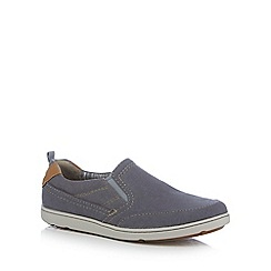 Rockport - Pale blue 'Gryffen' slip-on shoes