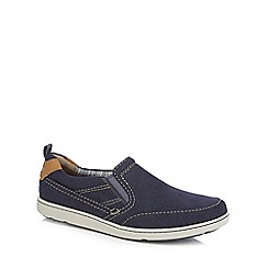 Rockport - Navy 'Gryffen' slip-on shoes