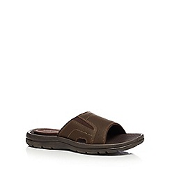 Rockport - Brown leather mule sandals