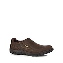 Rockport - Brown leather 'Trial Technique' slip on shoes