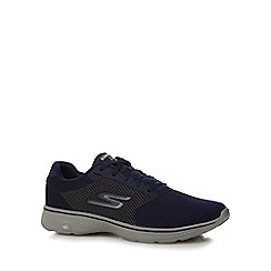 Skechers - Navy 'Go Walk 4' mesh trainers