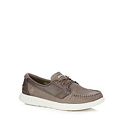 Skechers - Grey 'On the Go Glide' boat shoes