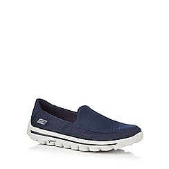 Skechers - Navy 'Go Walk 2' slip on trainers