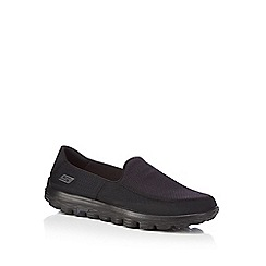 Skechers - Black 'Go Walk 2' slip on trainers