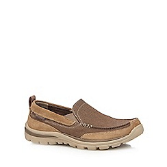 Skechers - Tan 'Superior' Milford slip-on trainers