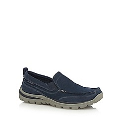 Skechers - Navy 'Superior Milford' slip-on trainers
