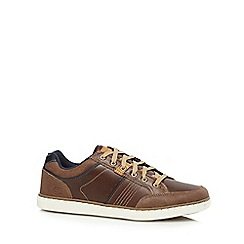 Skechers - Brown leather 'Lanson' trainers