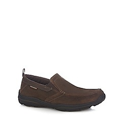Skechers - Brown suede 'Harper' slip on shoes