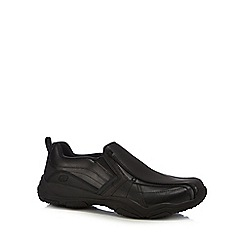 Skechers - Black leather 'Lanson Berto' trainers