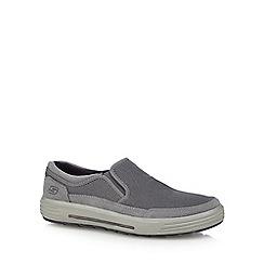 Skechers - Grey 'Porter Vesco' slip-on shoes