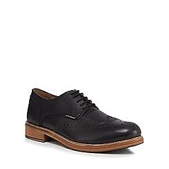 Ben Sherman - Black leather 'Patrick' brogues
