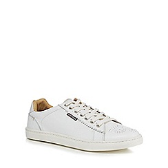 Ben Sherman - White leather trainers