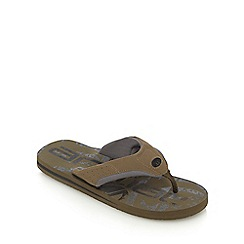 Animal - Khaki jekyll toe flip flops