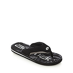 Animal - Black 'Jekyll' toe thong flip flops