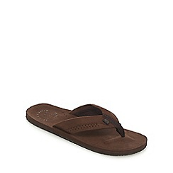 Animal - Brown hyde toe thong flip flops