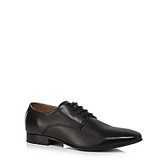 Base London - Black leather 'Bow' Derby shoes