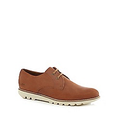 Kickers - Tan leather 'Kymbo Lu' lace up shoes