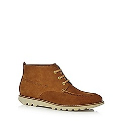 Kickers - Tan kymbo moccasin boots