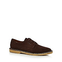 Kickers - Brown suede 'Kanning' Derby shoes