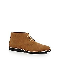 Kickers - Tan suede Chukka boots