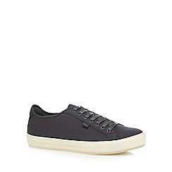 Kickers - Dark grey 'Tovni' lace up canvas trainers