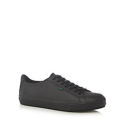 Kickers - Black 'Tovni' leather lace up trainers