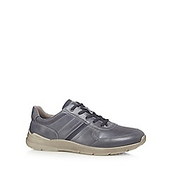 ECCO - Grey leather 'Irving' trainers