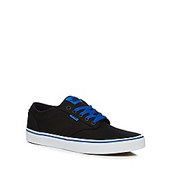 Vans - Black canvas 'Atwood Varsity' trainers