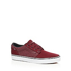 Vans - Dark red 'Chapman' lace up trainers
