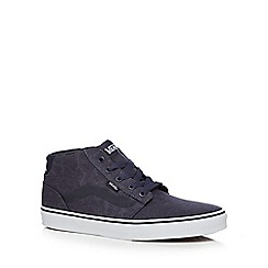 Vans - Navy leather blend 'Chapman' trainers