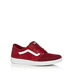 Vans - Red suede blend 'Chapman' trainers