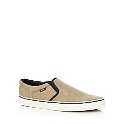 Vans - Tan 'Asher' slip-on trainers