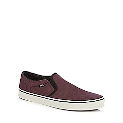 Vans - Red 'Asher' slip on trainers