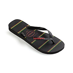Havaianas - Black top stripes logo flip flops