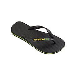 Havaianas - Black Brasil logo flip flops