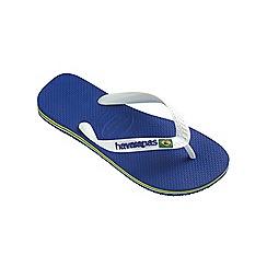 Havaianas - Blue Brasil logo flip flops