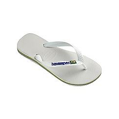 Havaianas - White Brasil logo flip flops
