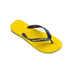 Havaianas - Yellow Brasil logo flip flops