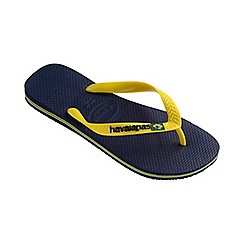 Havaianas - Blue and yellow Brasil logo flip flops