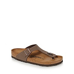 Birkenstock - Brown 'Gizeh' sandals