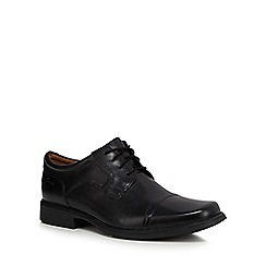 Clarks - Black leather 'Huckley' Derby shoes