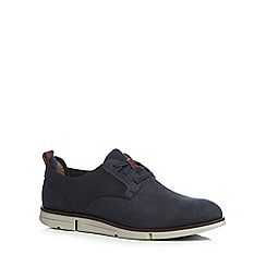 Clarks - Navy leather 'Trigen' lace up shoes