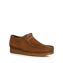 Clarks - Tan suede 'Wallabee' lace up shoes