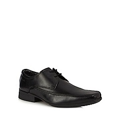 Clarks - Black leather 'Aze Day' derby shoes