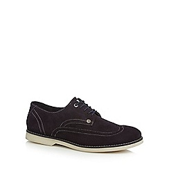 Original Penguin - Navy suede lace up wing tip shoes